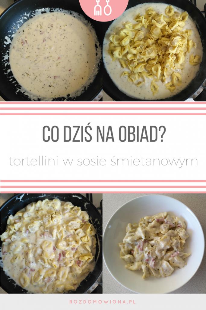 przepis na tortellini w sosie śmietanowym