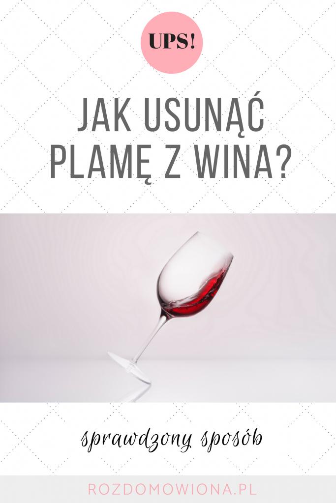 jak usunąć plamę z wina