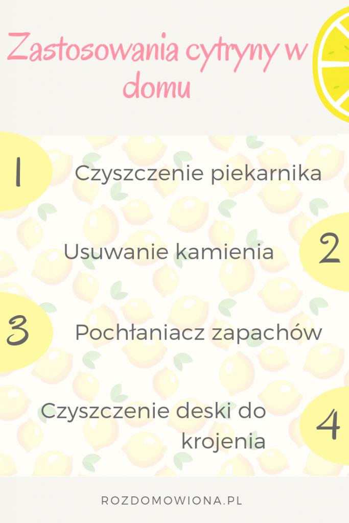 zastosowania cytryny w domu