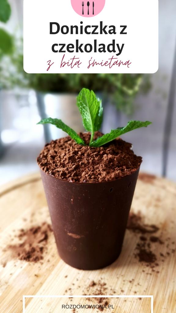 Doniczka z czekolady - przepis na deser