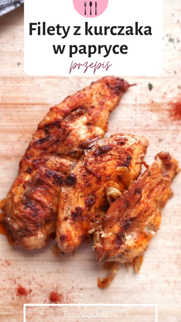 Pieczony filety z kurczaka w papryce przepis